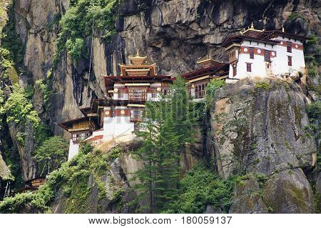 Paro Taktsan or better known as Tiger's Nest is located in Paro, Bhutan