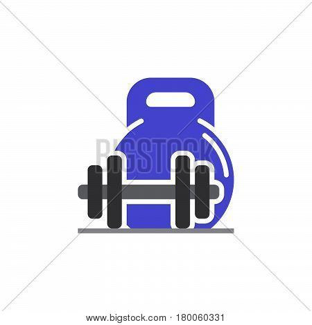 weight and barbell icon vector solid flat sign colorful pictogram isolated on white logo illustration