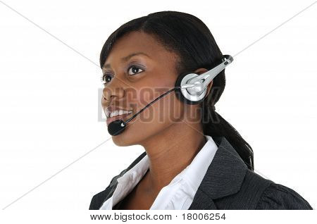 Attractive Business Woman With Headset 11