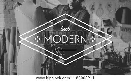 Modern Latest Trendy Creative Design Badge Banner