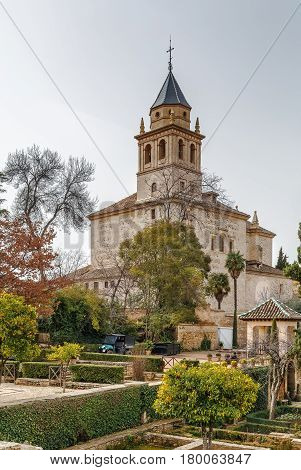 St Mary Church of the Alhambra the building of which was completed in the 17th century Granada Spain