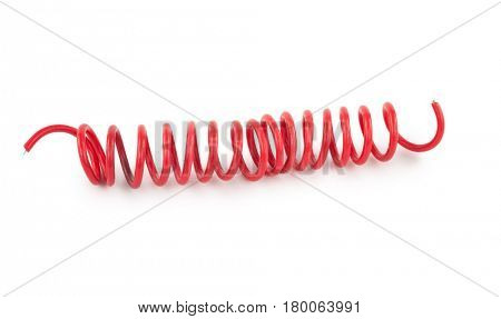 Twisted red wire