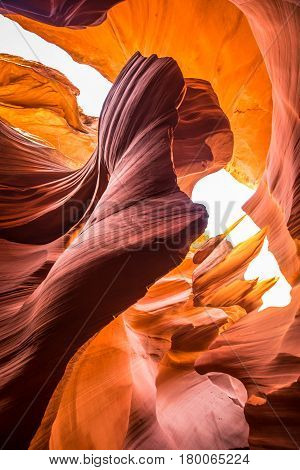 Amazing Sandstone Formations In Antelope Canyon, Arizona, Usa