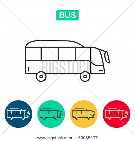 Bus Icon vector, simple isolated. Travel icons for web and graphic design. Line style logo.