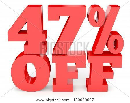 Forty Seven Percent Off. Discount 47 %.