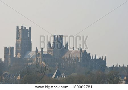 Ely Cathedral in Mist from the south