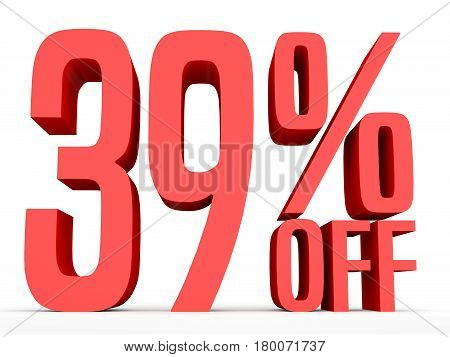Thirty Nine Percent Off. Discount 39 %.