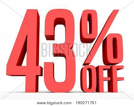 Forty Three Percent Off. Discount 43 %.