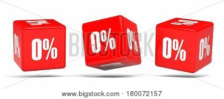 Zero Percent Off. Discount 0 %. Red Cubes.