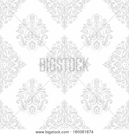 Damask vector classic light pattern. Seamless abstract background with repeating elements. Orient background