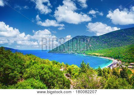 Antisamos beach in Kefalonia island, Greece