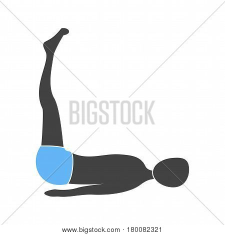 aerobic, extended icon vector image. Can also be used for yoga poses. Suitable for mobile apps, web apps and print media.