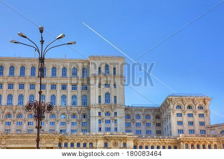 Palace of the Parliament in Bucharest city from Romania