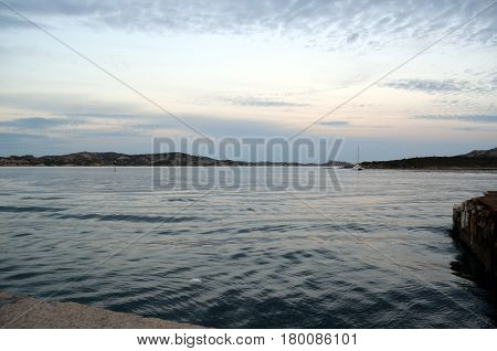 Panoramic View Of The Beach And The Crystal Sea Of Sardinia