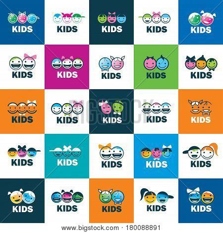 children icon design template. Vector illustration of icon