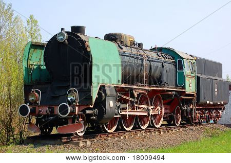 A beautiful old steam engine