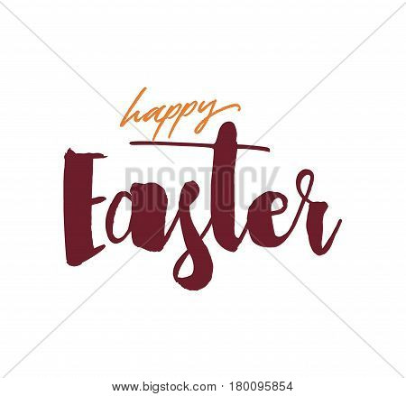 Easter typography design. Hand drawn text. Vector illustration, usable for greeting cards, banners, sales