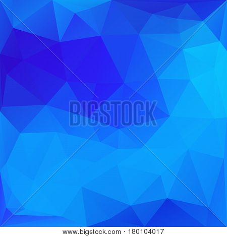 Blue abstract low-poly, polygonal triangular mosaic background for design concepts, wallpapers, posters, web, presentations and prints. Vector illustration.