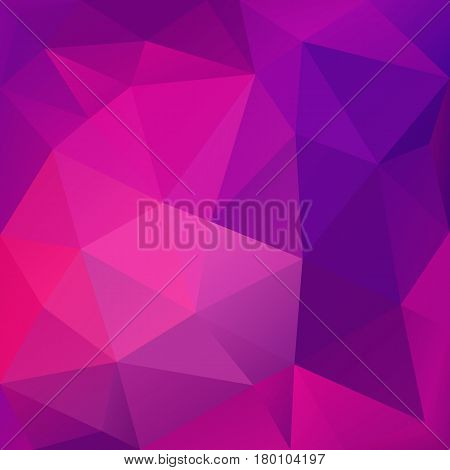 Violet abstract low-poly, polygonal triangular mosaic background for design concepts, wallpapers, posters, web, presentations and prints. Vector illustration.