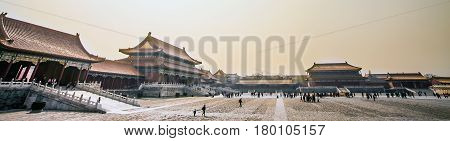 Forbidden City Residence Palace Beijing China Asia