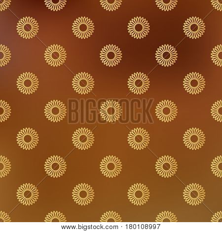 Vector Background With Seamless Pattern Decorated With Lines And Dots In Golden Color. Modern Design