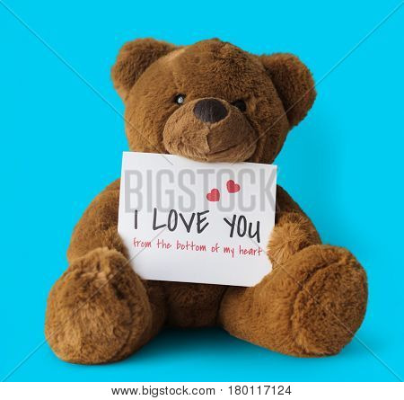 Teddy Bear Toy Present Gift Note