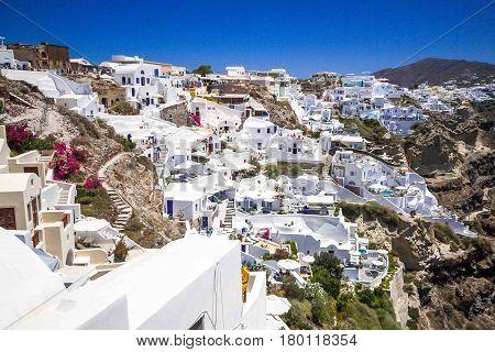amazing romantic Santorini island, travel in Greek islands