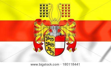 3D Flag Of Carinthia, Austria.