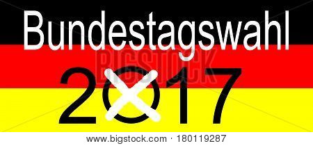 Elections in Germany 2017 - Bundestagswahl - illustration