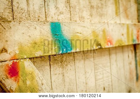 old grunge wooden partly painted door
