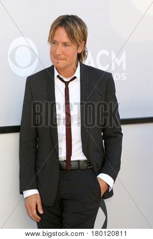 LAS VEGAS - APR 2:  Keith Urban at the Academy of Country Music Awards 2017 at T-Mobile Arena on April 2, 2017 in Las Vegas, NV