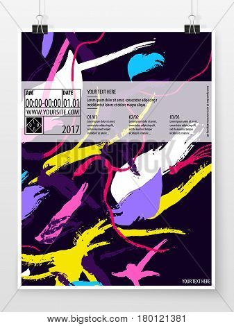 Poster Design Banner Template Business Concept Vertical 6