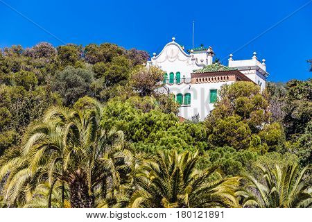 The White House Triassic - Park Guell Barcelona Catalonia Spain Europe