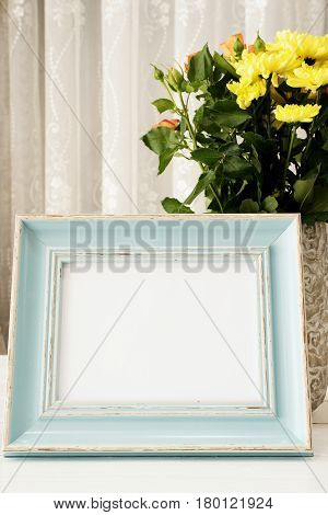 Sea Blue Frame Mock Ups, Digital Mockup, Display Mockup, Sea Styled Stock Photography Mockup, Colorf