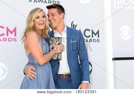 LAS VEGAS - APR 2:  Lauren Alaina, Alex Hopkins at the Academy of Country Music Awards 2017 at T-Mobile Arena on April 2, 2017 in Las Vegas, NV