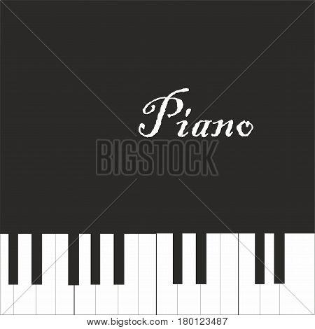 Piano flat design. Piano vector illustration. Piano icon