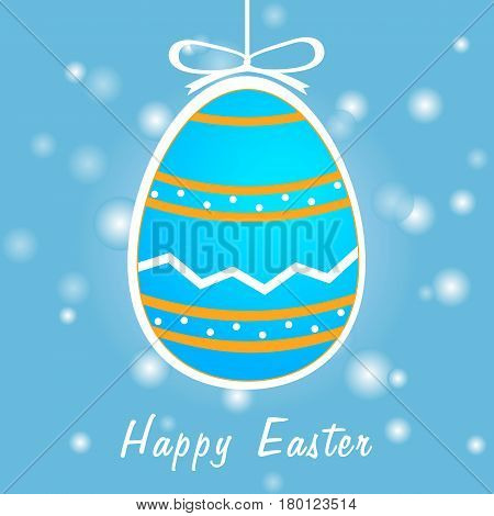 a Easter greeting card with colorful eggs