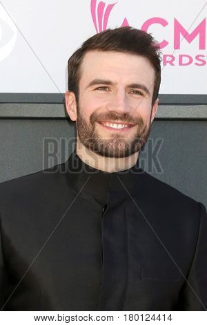 LAS VEGAS - APR 2:  Sam Hunt at the Academy of Country Music Awards 2017 at T-Mobile Arena on April 2, 2017 in Las Vegas, NV