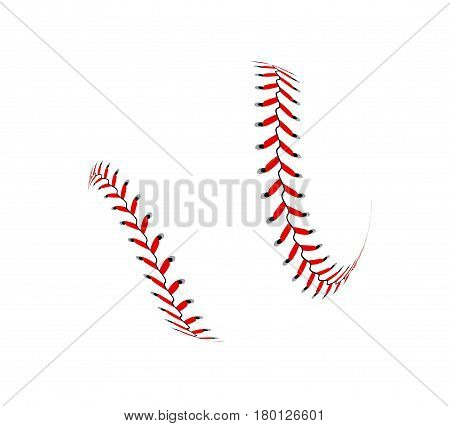 Baseball ball on white background Vector illustration