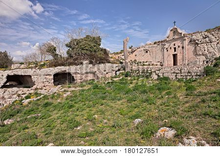 Matera, Basilicata, Italy: the rock church