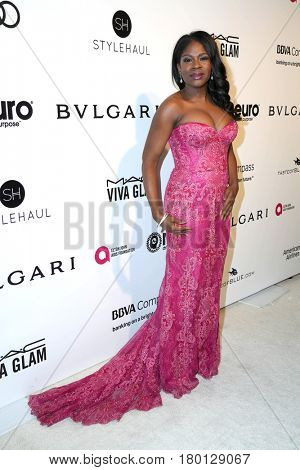 LOS ANGELES - FEB 26:  Edwina Findley at the Elton John Oscar Viewing Party 2017 at the City of West Hollywood Park on February 26, 2017 in West Hollywood, CA