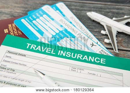 travel agent ticket safe plan trip holiday model insurance.