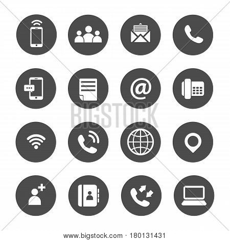 Business concept investment people process global graph icon set
