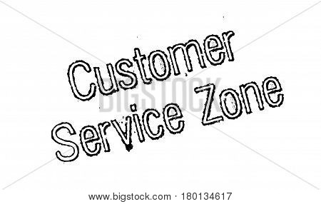 Customer Service Zone rubber stamp. Grunge design with dust scratches. Effects can be easily removed for a clean, crisp look. Color is easily changed.