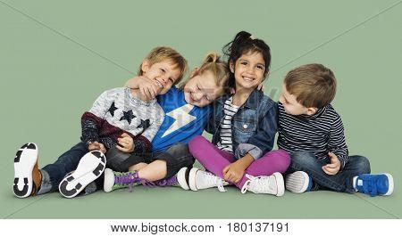 Preschool Children Boys and Girls Casual Studio Leisure