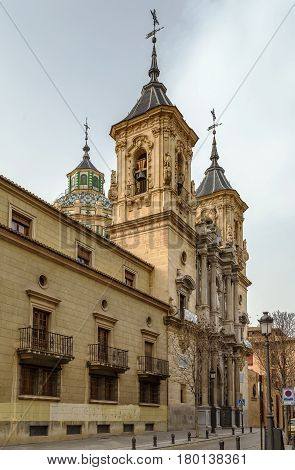 Basilica de San Juan de Dios is beautiful Baroque buildings in Granada Spain