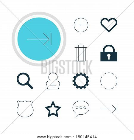Vector Illustration Of 12 Member Icons. Editable Pack Of Positive, Asterisk, Repeat And Other Elements.