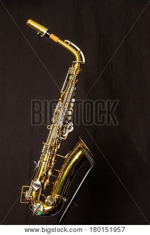 The right side of an alto sax