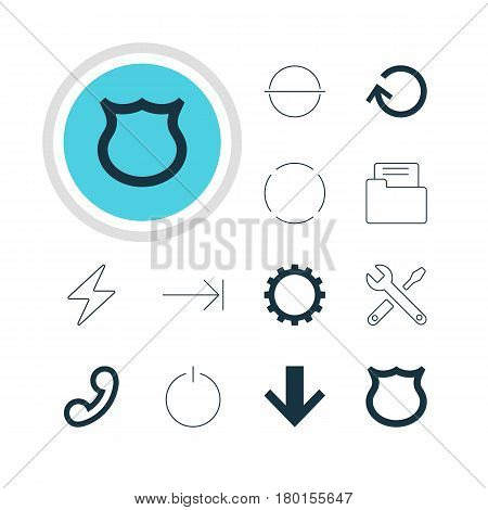 Vector Illustration Of 12 Member Icons. Editable Pack Of Remove, Tabulation Button, Dossier And Other Elements.