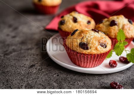 Nutritious Oatmeal Muffins With Cranberries